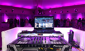 Purple up lighting DJ